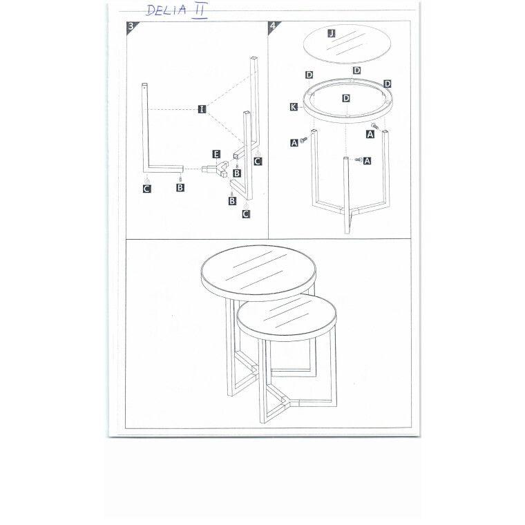Столик журнальный Signal Delia II | Черный / хром - 2