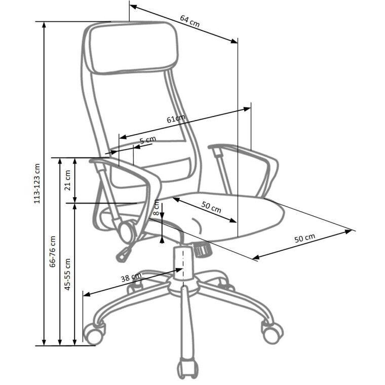 Кресло поворотное Halmar Zoom | Серый - 2