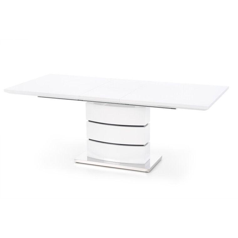 Стол раскладной Halmar Nobel | Белый / Черный