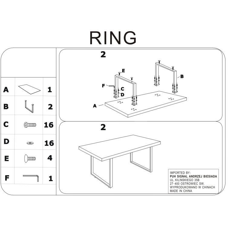 Cтол обеденный Signal Ring   Белый - 3