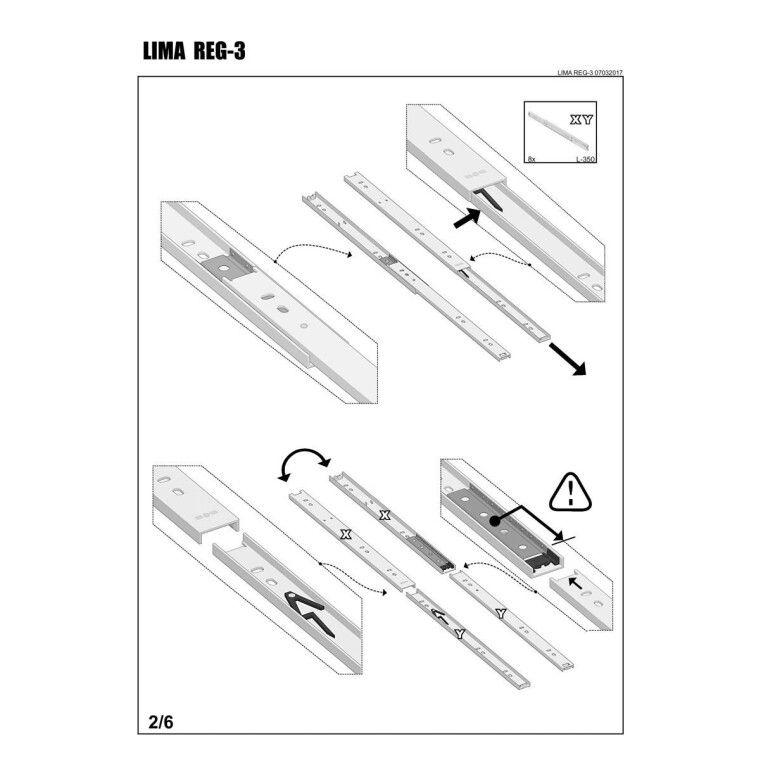 Стеллаж Halmar Lima Reg-3 | Дуб Сонома - 4