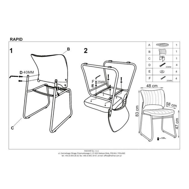 Кресло офисное Halmar Rapid | Черный - 6