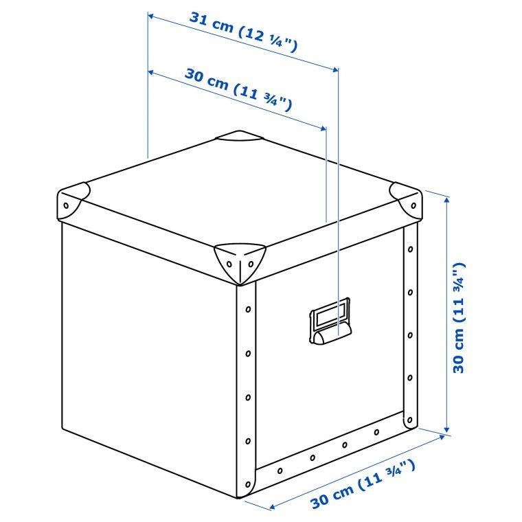 Коробка с крышкой FJÄLLA - 4