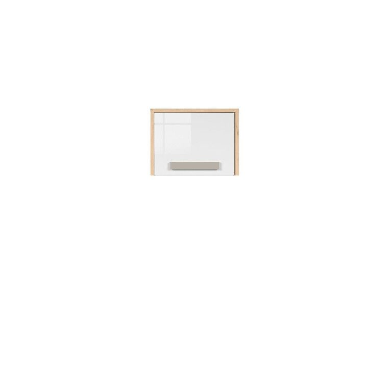 Шкаф навесной BRW Namek | Бук / Белый / Серый фото - 4