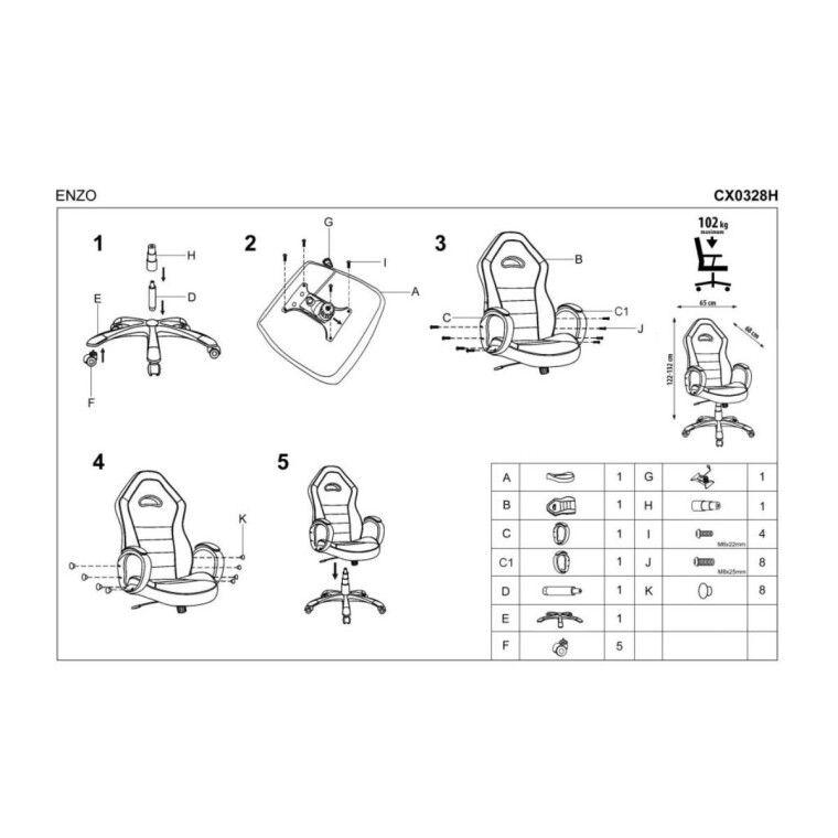 Кресло поворотное Halmar Enzo | Черный - 4