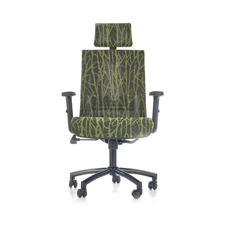 Кресло поворотное Halmar Tropic   Зеленый / Черный фото - 7