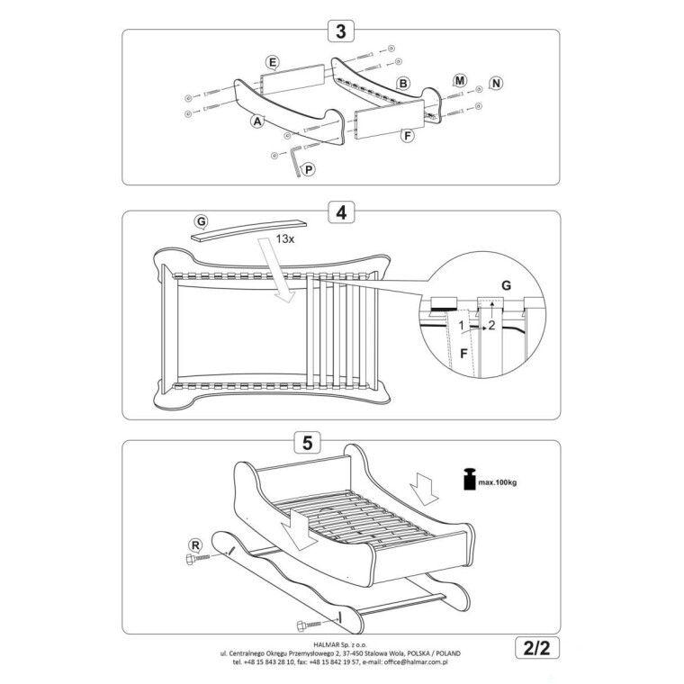 Кровать детская с функцией колыбели Halmar Boat | Лодка - 4