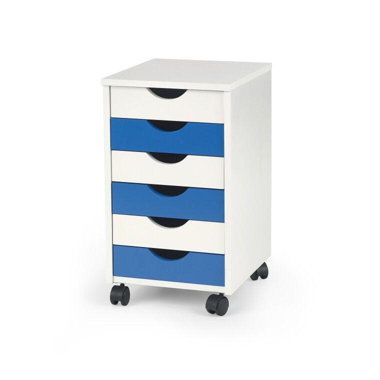 Комод Halmar Beppo 2 | Белый / синий