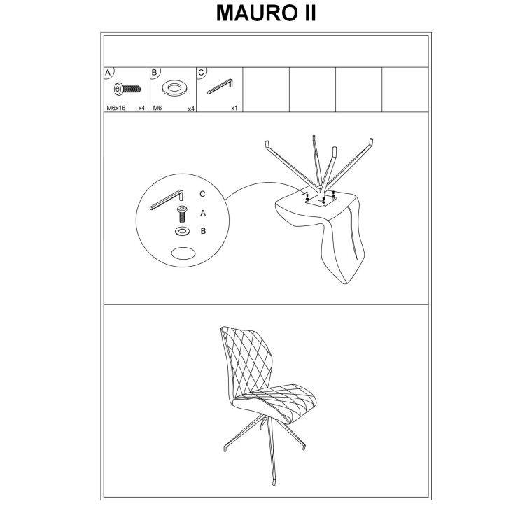 Стул Signal Mauro II   Серый - 2