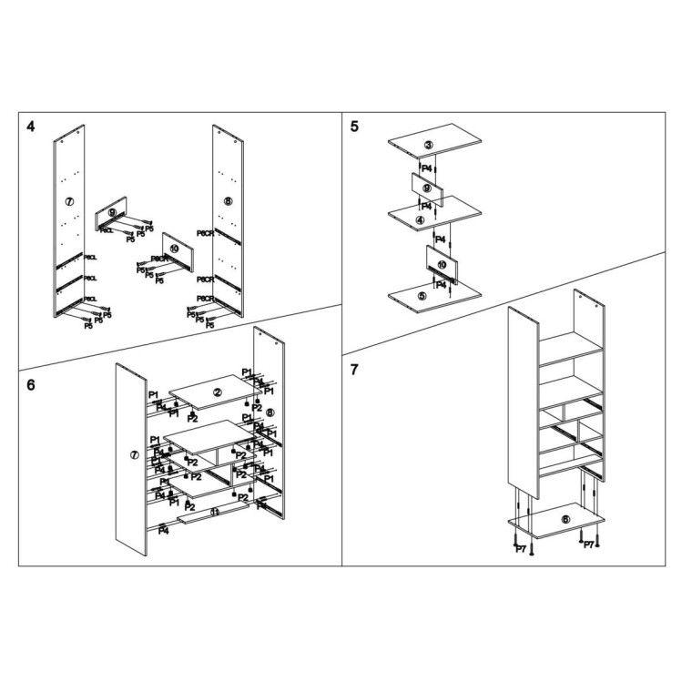 Стеллаж Halmar Mezo Reg-1 | Коричневый - 4