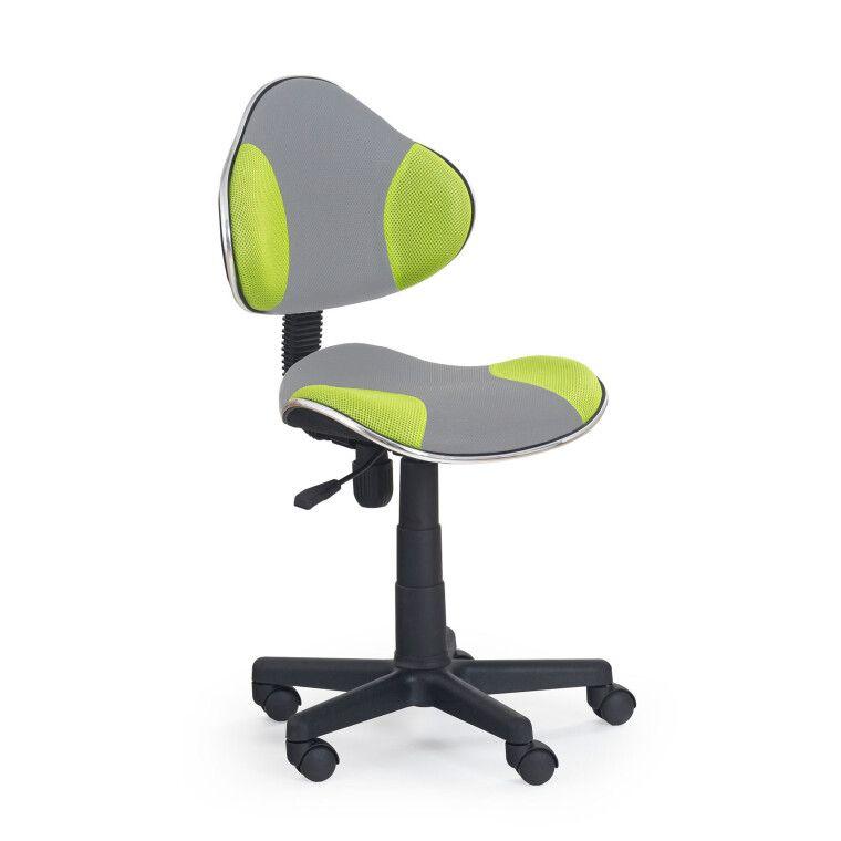 Кресло поворотное Halmar Flash 2 | Серый / зеленый