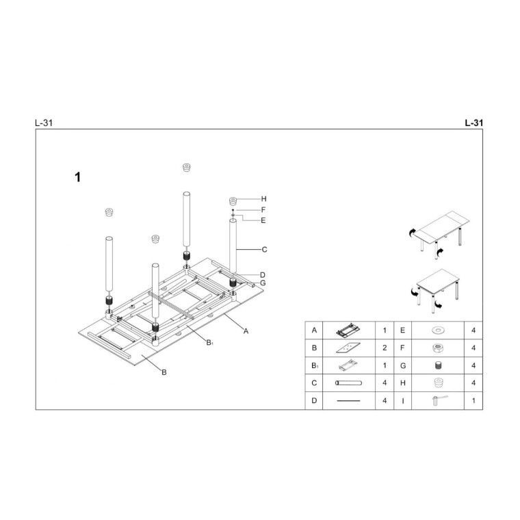 Стол раздвижной Halmar L31 | Белый - 2