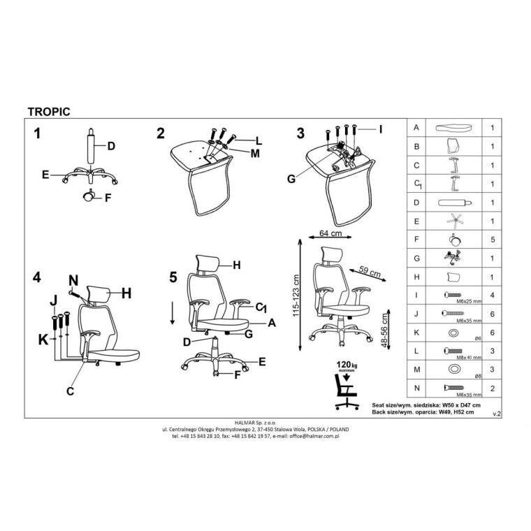Кресло поворотное Halmar Tropic | Зеленый / черный - 9
