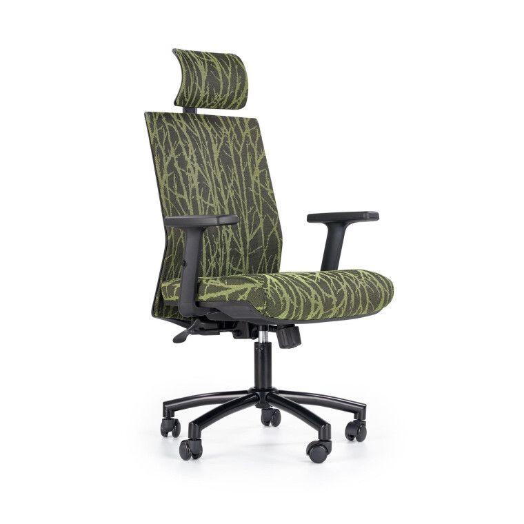 Кресло поворотное Halmar Tropic   Зеленый / Черный фото - 6