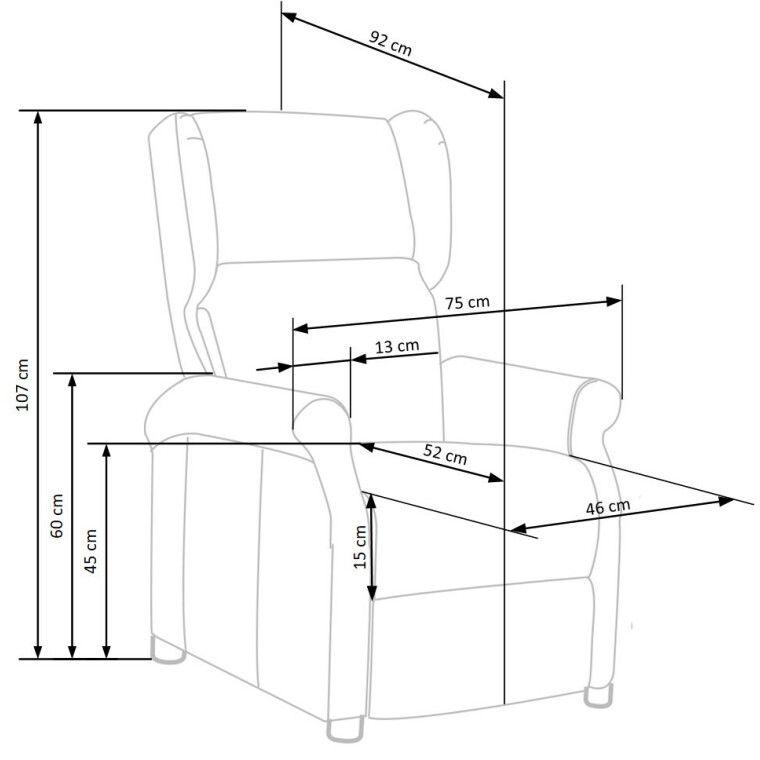 Кресло Halmar Agustin | Серый - 3
