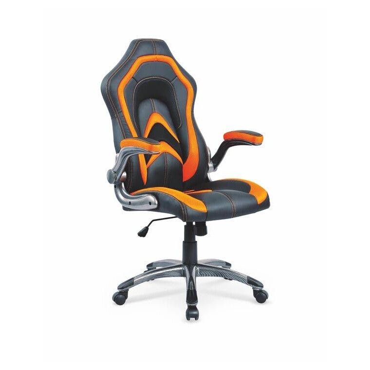 Кресло поворотное Halmar Cobra | Черный / оранжевый
