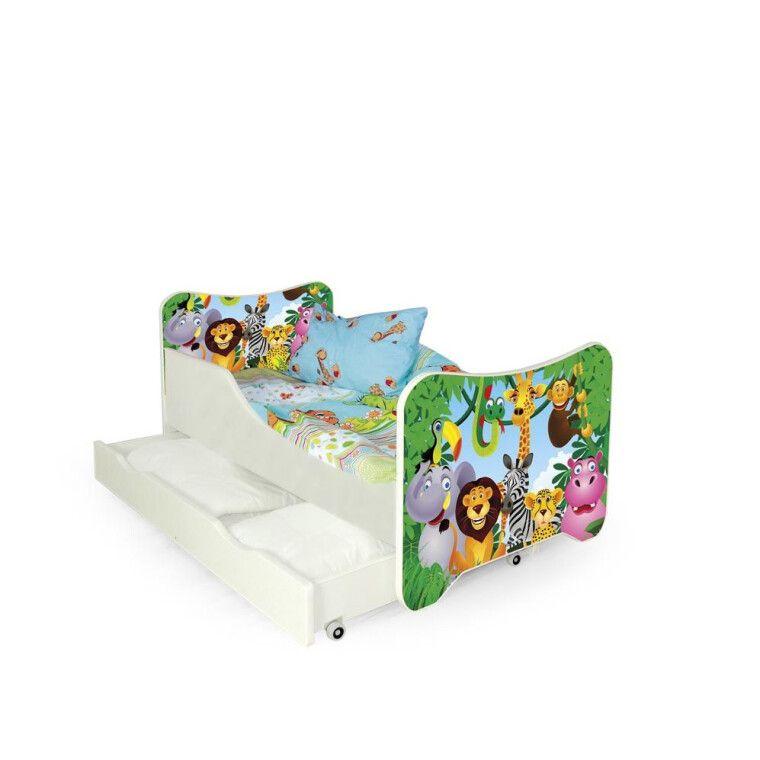 Кровать детская с матрасом Halmar Happy Jungle | Джунгли - 3