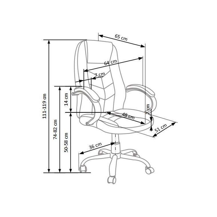 Кресло поворотное Halmar Cody   Коричневый - 2