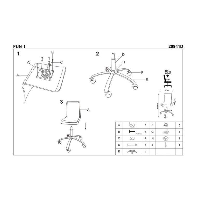 Кресло поворотное Halmar Fun-1 | Розовый - 3
