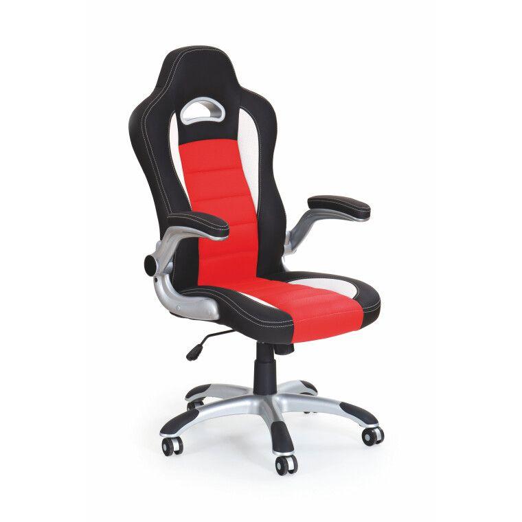 Кресло поворотное Halmar Lotus   Черный / красный фото