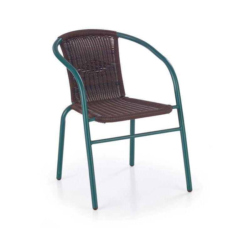 Стул Halmar Grand 2 | Зеленый / коричневый