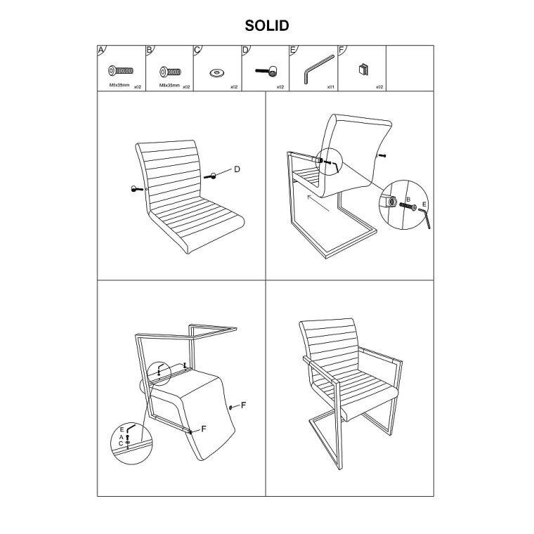 Кресло офисное Signal Solid | Черный / серый - 2