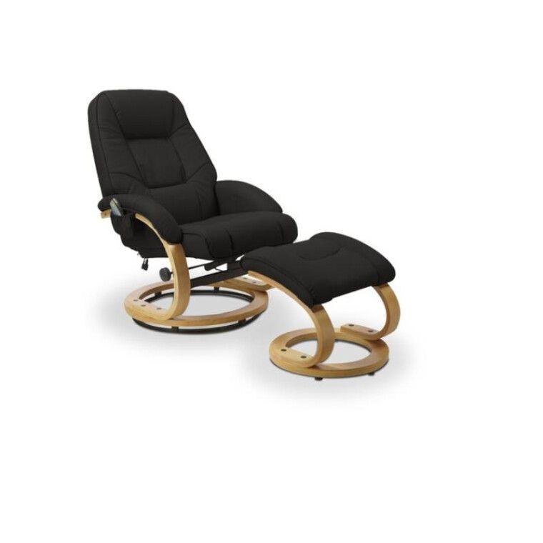Кресло массажное с подставкой для ног Halmar Matador   Черный фото