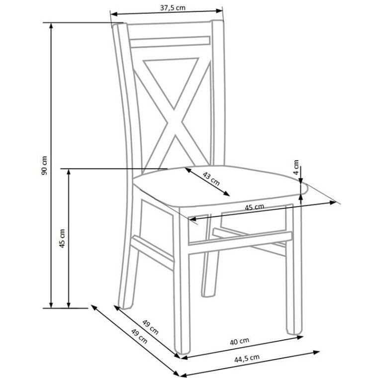 Стул кухонный Halmar Dariusz 2 | Белый - 3