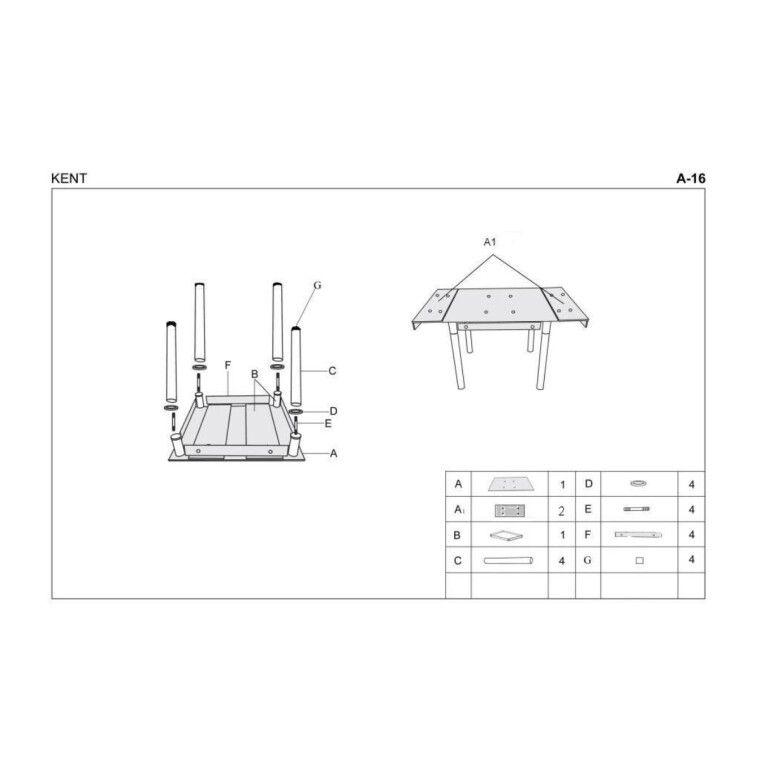 Стол раскладной Halmar Kent | Серый / хром - 2