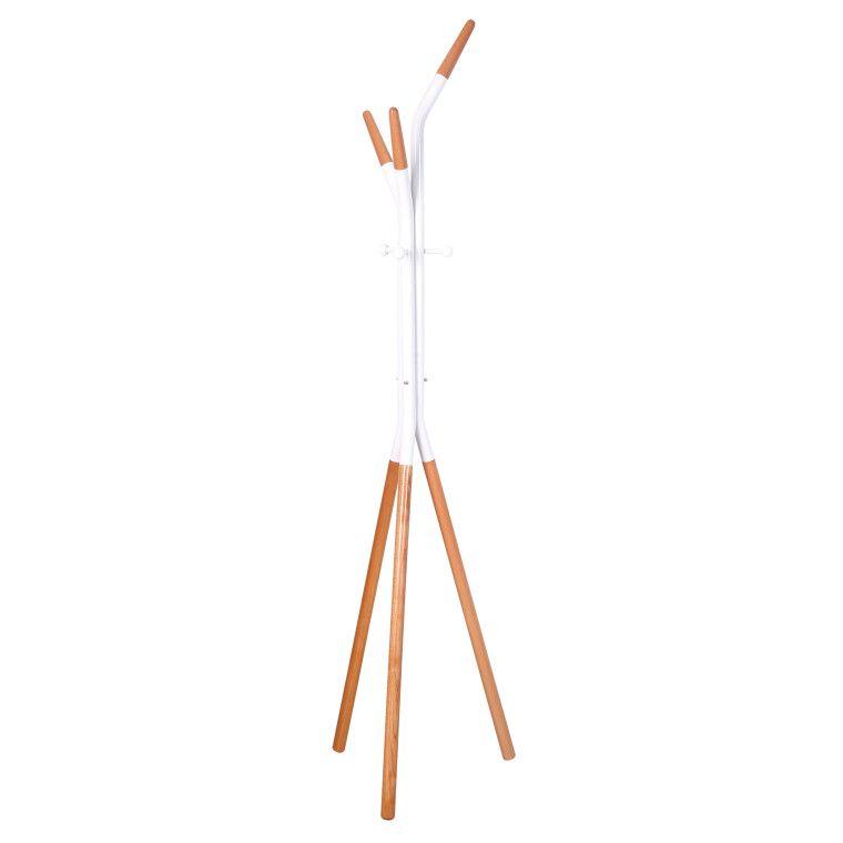 Вешалка Halmar W51 | Белый / бук