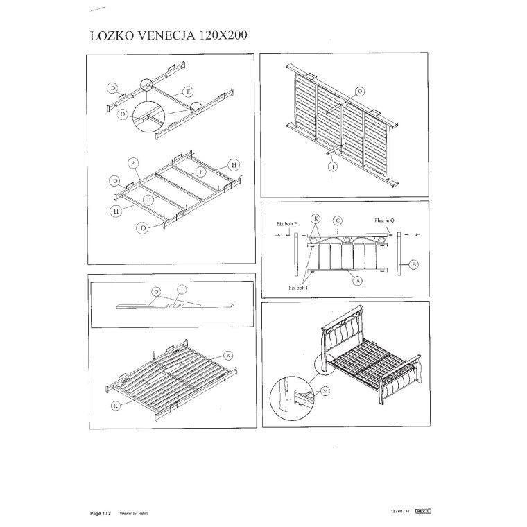 Кровать Signal Venecja | 120х200 / Античная черешня - 2