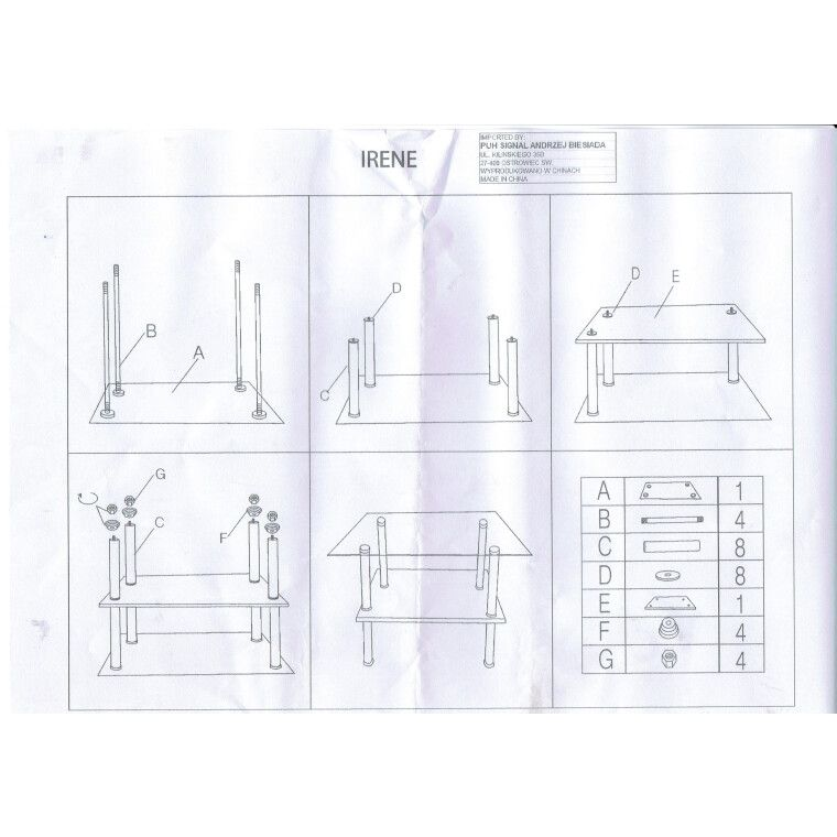 Cтолик журнальный Signal Irene | Прозрачный - 2