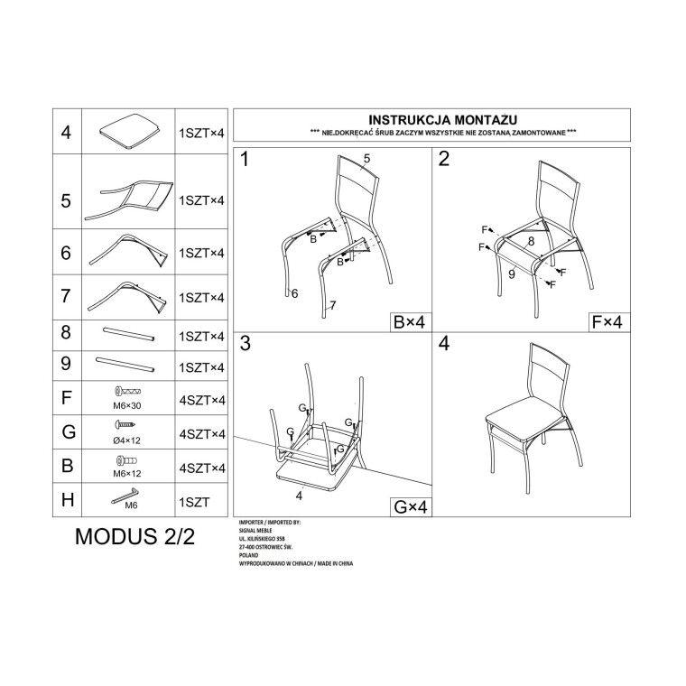 Набор мебели столовой Signal Modus | Дуб сонома - 3