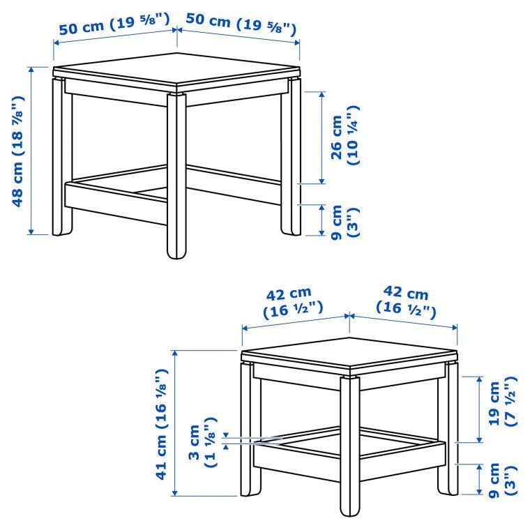 Комплект столиков HAVSTA - 4