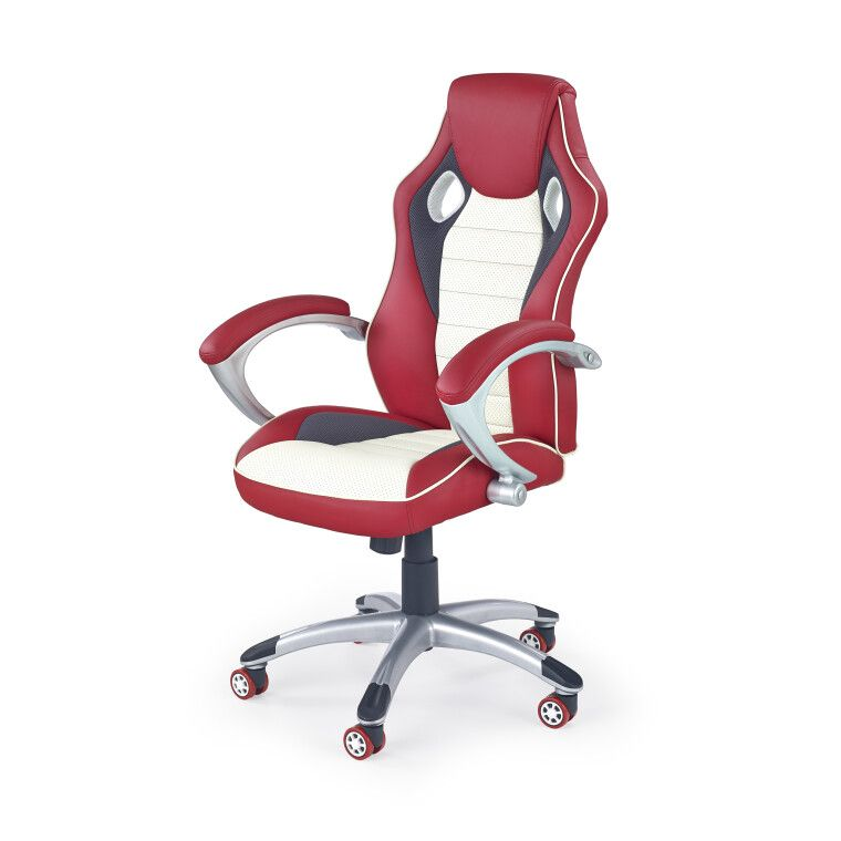 Кресло поворотное Halmar Malibu   Красный / кремовый