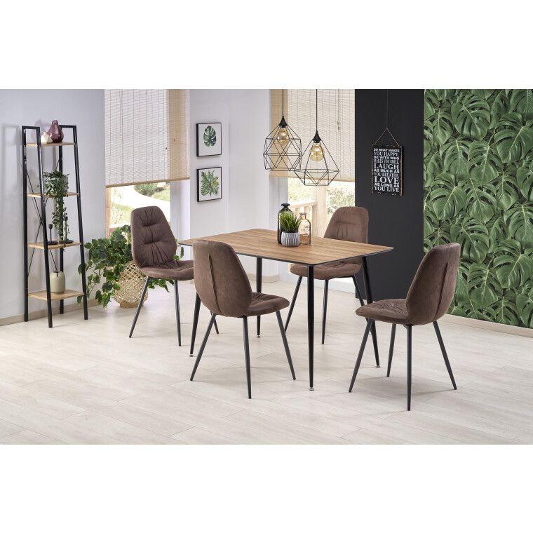 Стол обеденный Halmar Artti | Орех медовый / Черный
