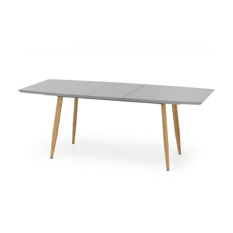Стол раскладной Halmar Ruten | Дуб медовый / Серый фото - 2