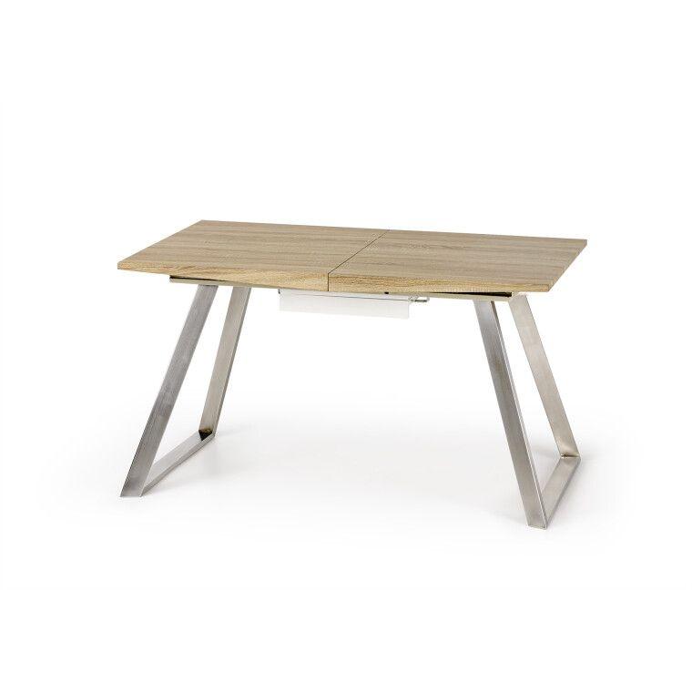 Стол обеденный Halmar Trevor | Дуб Сонома / Белый - 4