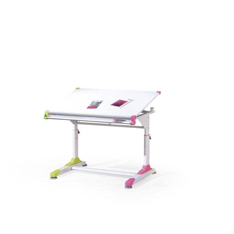 Стол детский Halmar Collorido | Белый / зеленый / розовый
