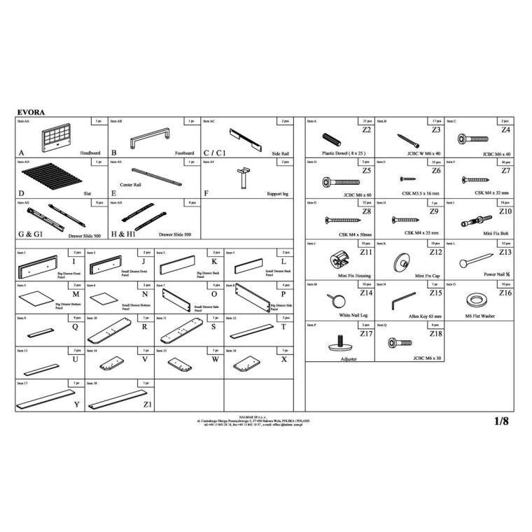 Кровать Halmar Evora | 160х200 /  Бежевый - 2