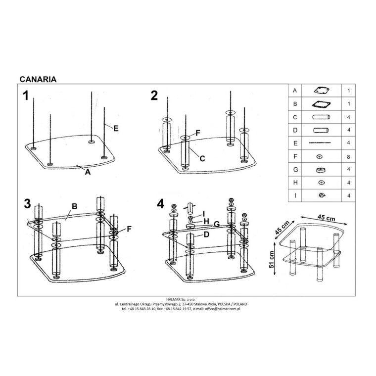Стол журнальный Halmar Canaria | Прозрачный - 2