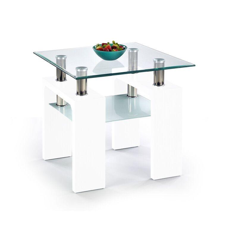 Стол журнальный Halmar Diana H квадратный | Белый лак