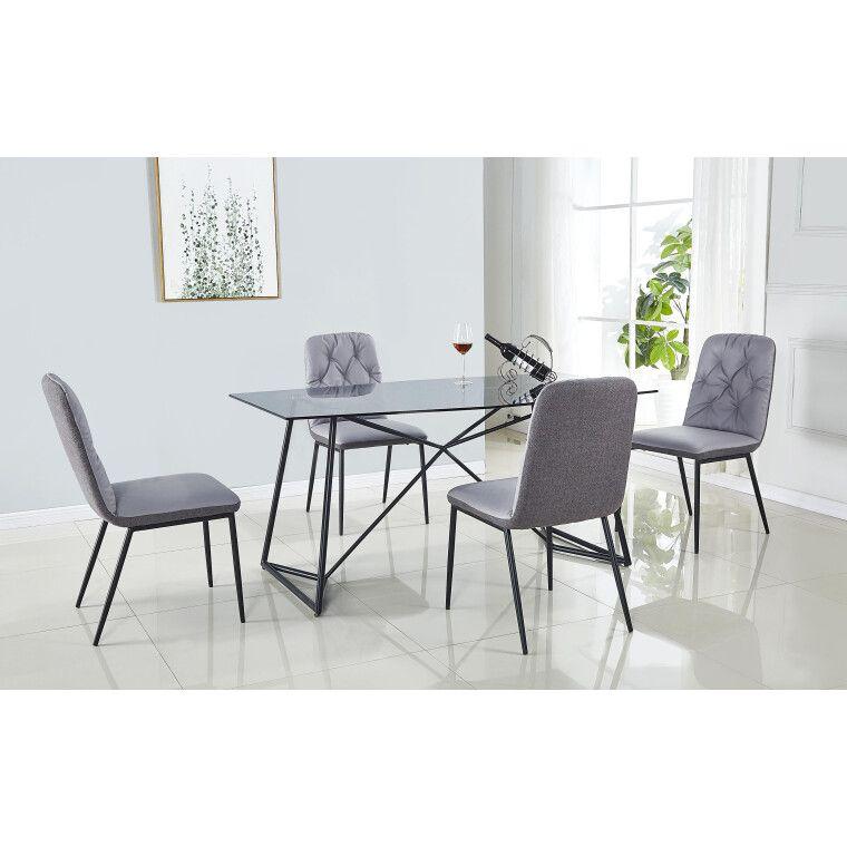 Стол обеденный Halmar Sensor | Прозрачный / черный - 2