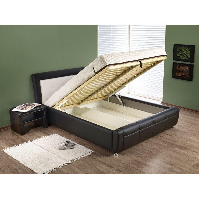 Кровать Halmar Samanta P | 160х200 / Коричневый / Бежевый