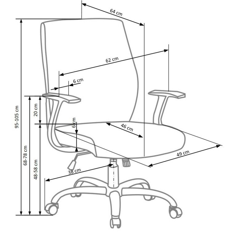 Кресло поворотное Halmar Combo   Зеленый - 3