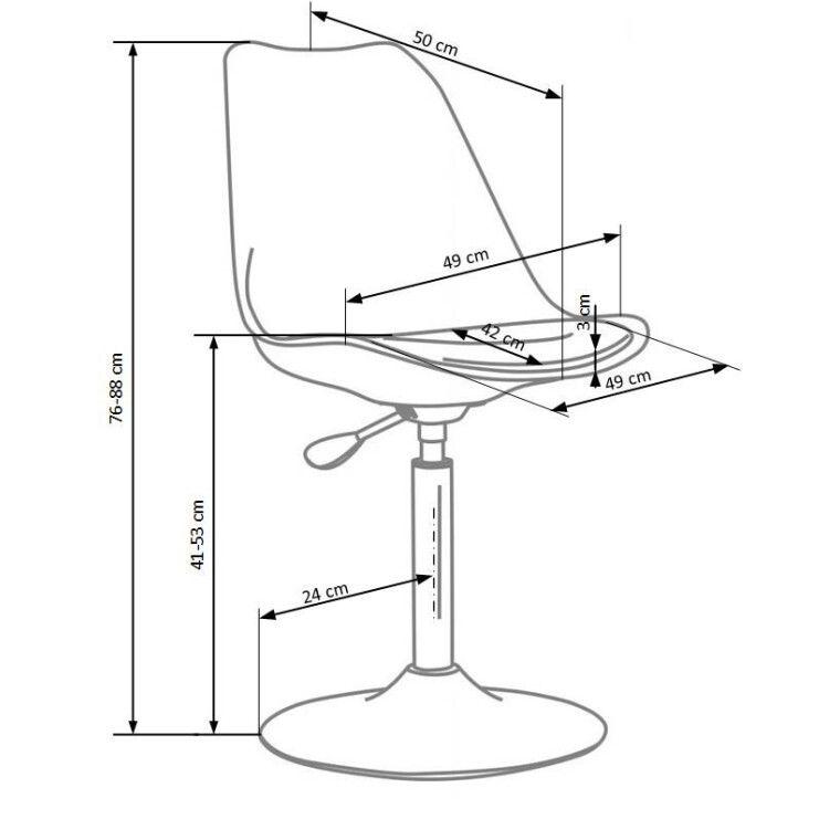 Кресло поворотное Halmar Coco 3 | Белый / черный - 2