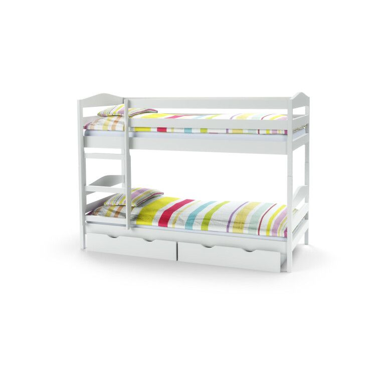 Кровать двухъярусная с ящиками Halmar Sam | Белый фото