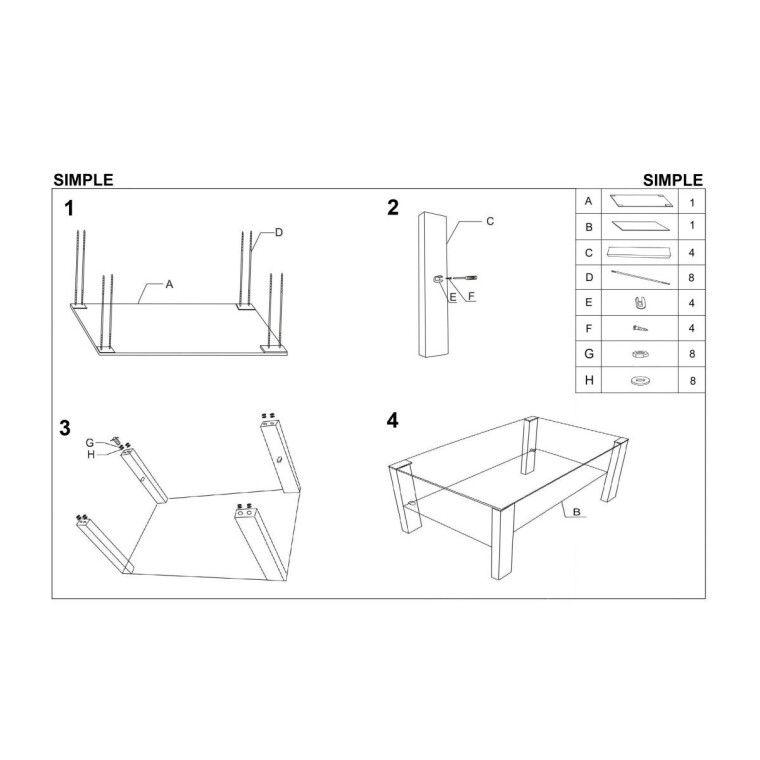 Стол журнальный Halmar Simple | Белый - 2