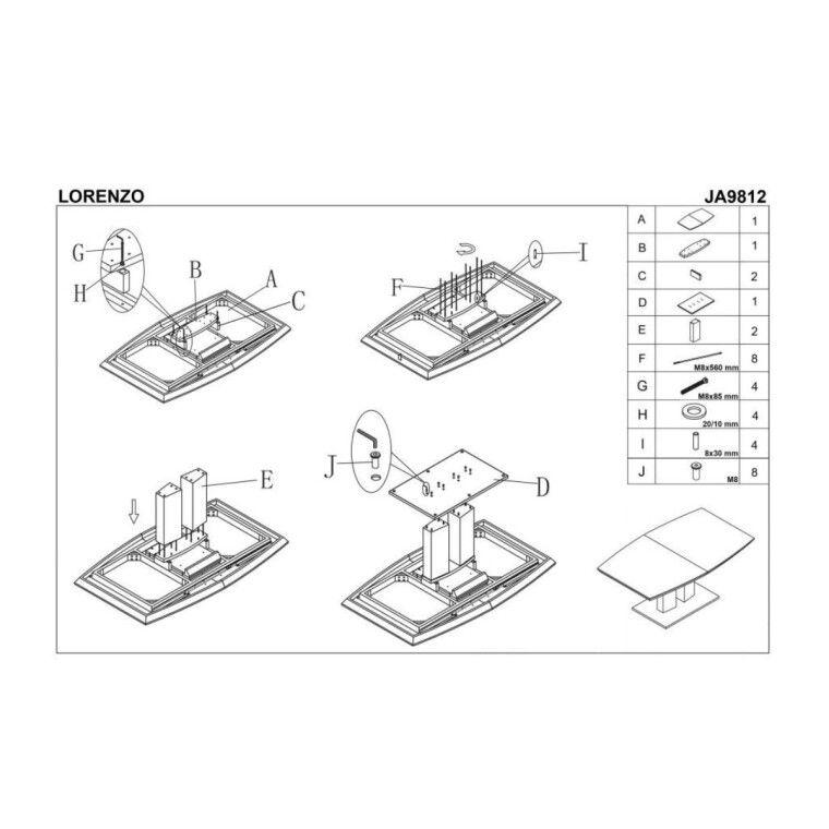Стол раскладной Halmar Lorenzo | Белый - 2