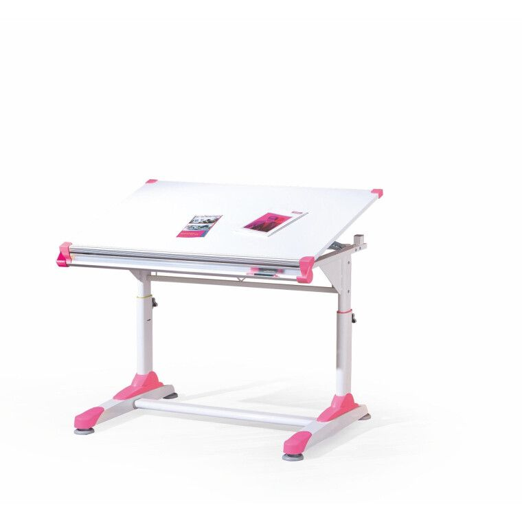 Стол детский Halmar Collorido | Белый / зеленый / розовый - 2